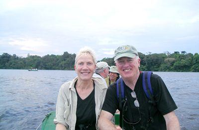 Our traveling companions in the Amazon on the Motor Yacht Tucano.