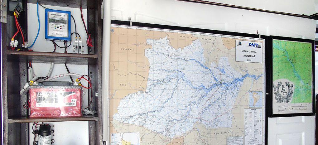 Solar Water Controller on M/Y Tucano Amazon River Cruise