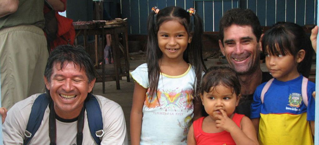 Amazon Rainforest Tour Guides with Children