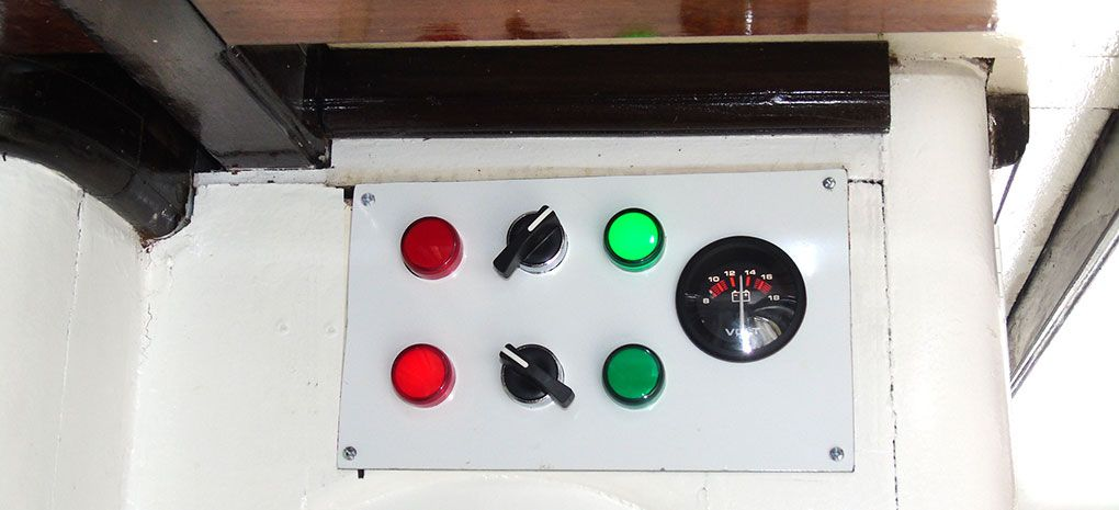 Solar Electric Control Panel on M/Y Tucano Amazon River Cruise